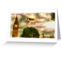 UFO - Over London by Raphael Terra Greeting Card