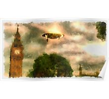 UFO - Over London by Raphael Terra Poster