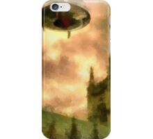 UFO - Over Cathedral by Raphael Terra iPhone Case/Skin