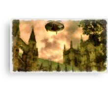 UFO - Over Cathedral by Raphael Terra Canvas Print