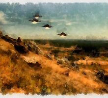 UFO - Invasion Force by Raphael Terra by esotericaart