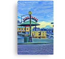Mt. Rainier from Pike Place Market Canvas Print
