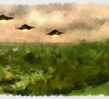 UFO - Invasion Force 4 by Raphael Terra by esotericaart