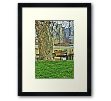 Urban Tree Surviving in City Framed Print