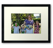 """Look mom, no hands!!"" Framed Print"