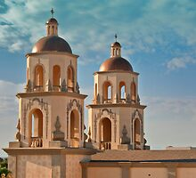 St. Augustine Cathedral Towers by Linda Gregory