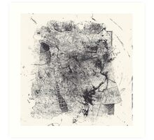 Entwined Bodies - Monotype + Ink Drawing Art Print