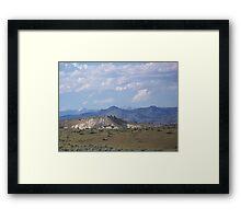 Denny Flat View of the Elkhorns - Eastern Oregon  Framed Print