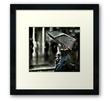 What's on a man's mind ?  Framed Print