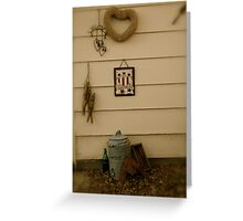 Backyard Vignette Greeting Card