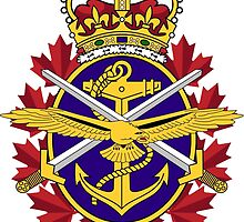 Canada Canadian Armed Forces Emblem T Shirts, Stickers and Other Gifts by zandosfactry