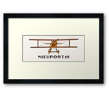 Nieuport 28 - America's First Fighter Aircraft Framed Print