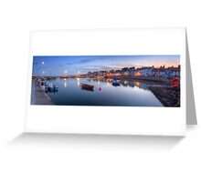 St Monans Harbour @ Dusk  Greeting Card