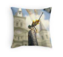 Dragonfly @ Jackson Square Throw Pillow
