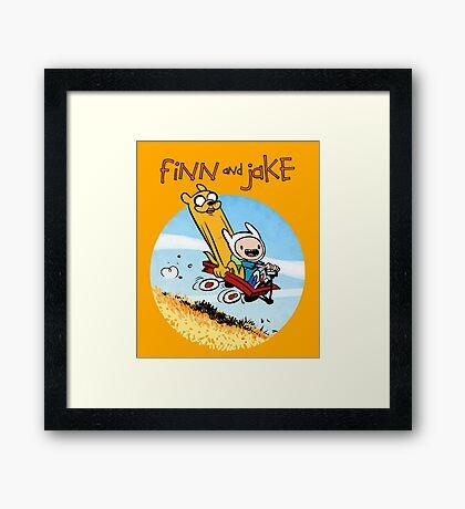 Finn and Jake Framed Print