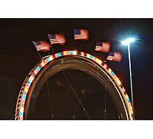 Five American Flags Photographic Print