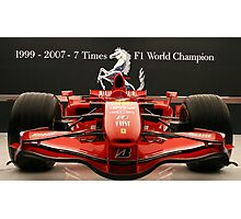 Ferrari Formula 1 Celebration Photographic Print