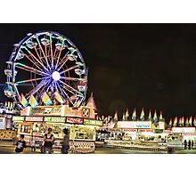 Fun and Food at The Carnival Photographic Print