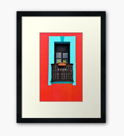 Well-Framed with a Window Box Framed Print