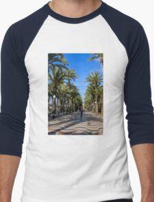 Alicante, Explanada de España Men's Baseball ¾ T-Shirt