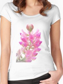 Tender, pink field flower Women's Fitted Scoop T-Shirt