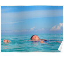 Floating in Cayo Coco Poster