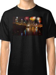 Pennsylvania. Philadelphia. Independence Day Fireworks. Classic T-Shirt