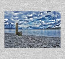 Cloudy day at lake lucerne Kids Clothes