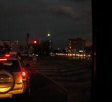 Evening Rush-A drivers POV by Gryphonn