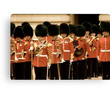 Red Suits- London, England Canvas Print