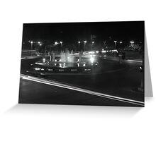 B&W Fountain and Light Greeting Card