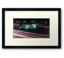 Night at the Fountain Framed Print