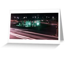 Night at the Fountain Greeting Card