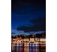 Lucerne by night Photographic Print