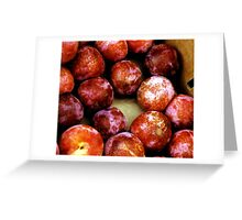apricots for sale-farmer's market,san francisco Greeting Card