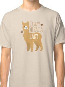 Crazy Alpaca Lady Classic T-Shirt
