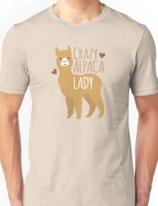 Crazy Alpaca Lady Unisex T-Shirt