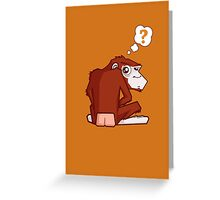 Monkey WTF??? Greeting Card