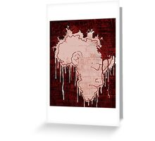 Mourning Continent Greeting Card