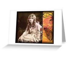 Her Pain Was More Than She Could Bear (Print from a Mixed Media collage) Greeting Card