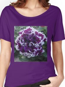 Prettily Purple & White Women's Relaxed Fit T-Shirt