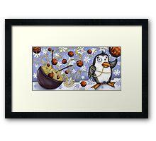 penguin and spaghetti  Framed Print