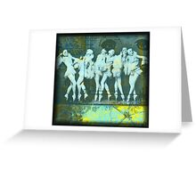 What the Girls Knew (Print from a Mixed Media collage) Greeting Card