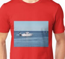 A large boat on its way out to sea for some fishing- Werribee Sth. Unisex T-Shirt