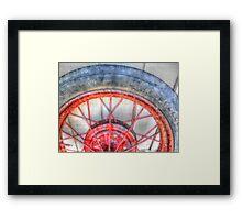 Red Spokes Framed Print