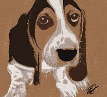 Basset Hound Pup by Rachel Counts