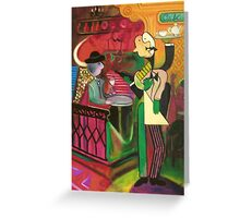The waiter (by Jacantti) Greeting Card