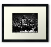Your local creepy house Framed Print