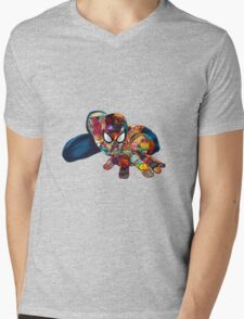 Spiderman on Acid Mens V-Neck T-Shirt