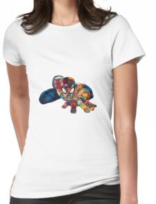 Spiderman on Acid Womens Fitted T-Shirt